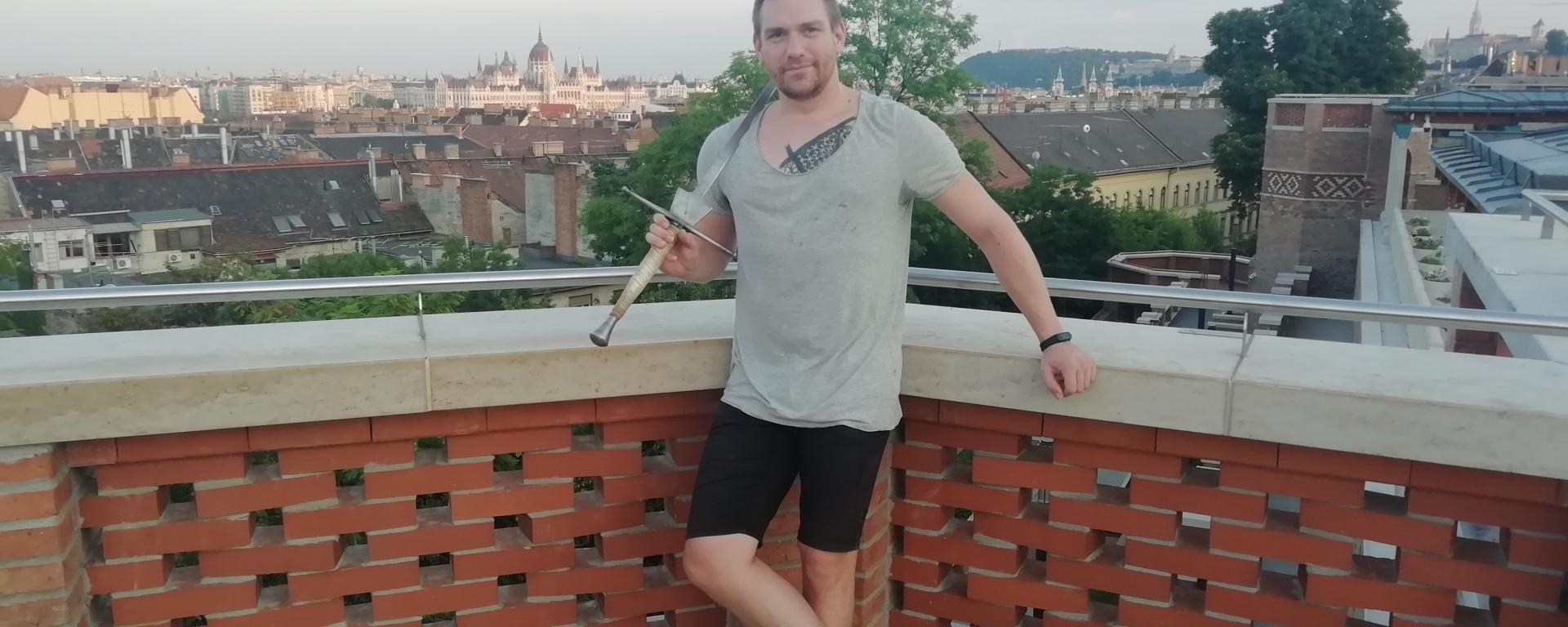 """Tamás Kelemen, intructor of HEMA club """"Kard Rendje"""" (Order of the Sword) located in Budapest"""